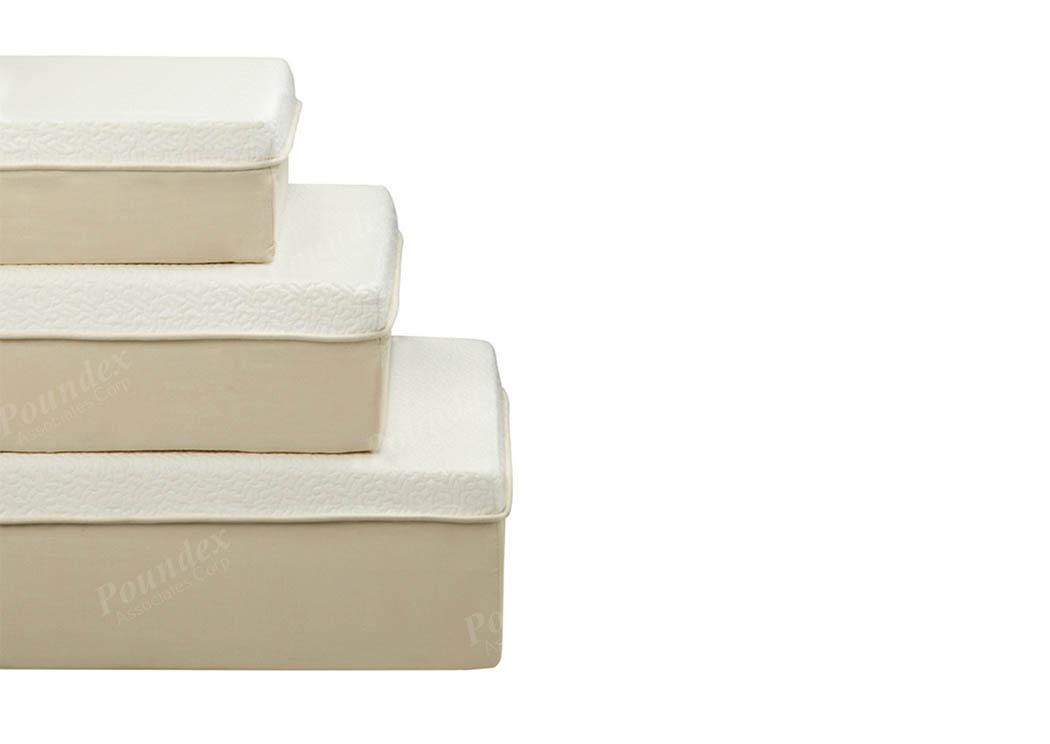 white queen memory foam