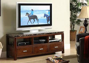 1168 FAUX MARBLE TOP TV STAND