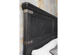 Vintage Tempo Black King/California King Panel Headboard