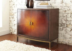 Modern Harmony 2 Door Accent Chest w/Antique Finish Metal Base
