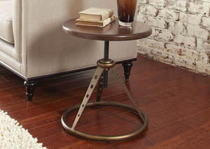 Modern Harmony Adjustable Accent Table w/Stool