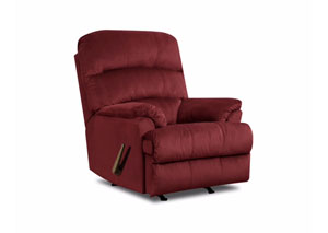 Hampton Merlot Rocker Recliner