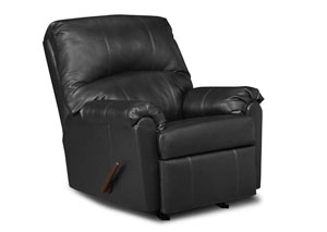 Windsor Bonded Leather Black Rocker Recliner