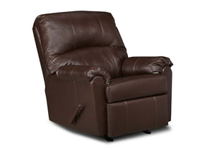 Windsor Bonded Leather Walnut Rocker Recliner