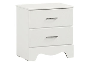 Vogue White Faux Crocodile Nightstand
