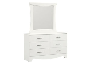 Vogue White Faux Crocodile 6 Drawer Dresser