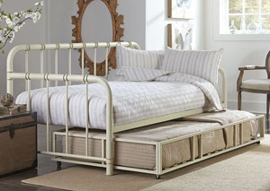 Tristen Antique White Twin Daybed w/Pull-Out Trundle