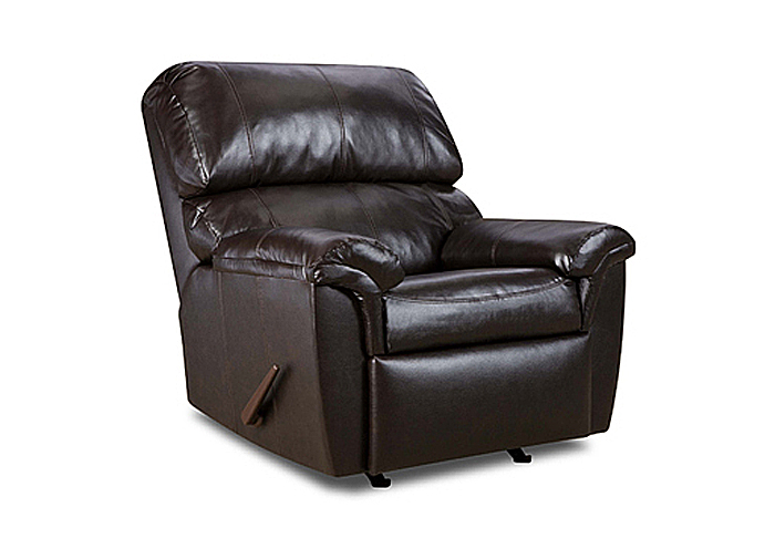 WALNUT ROCKER RECLINER,United Furniture
