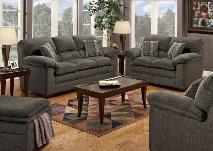 Davis Home Furniture Asheville Nc Radar Graphite Gumball Blue Sofa