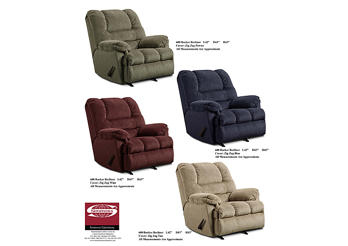 BLUE ROCKER RECLINER,United Furniture