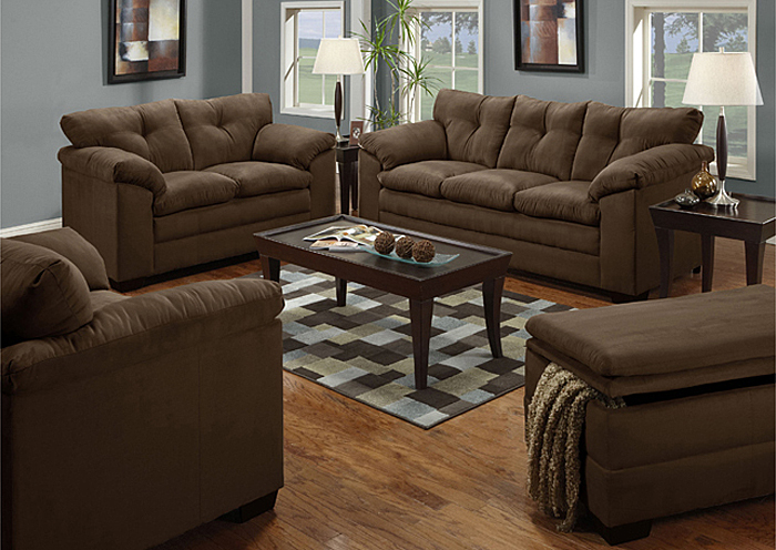 CHOCOLATE LOVESEAT,United Furniture
