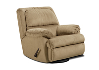 BLUE GLIDER SWIVEL RECLINER
