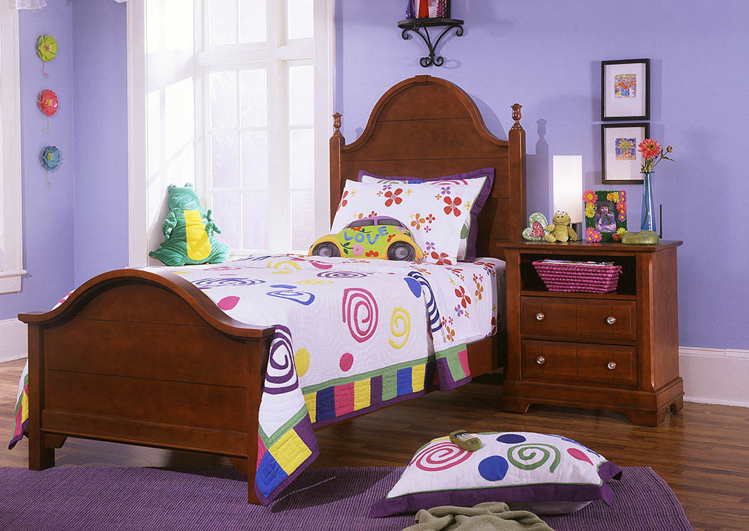 The Cottage Collection Cherry Twin Panel Bed,Vaughan-Bassett