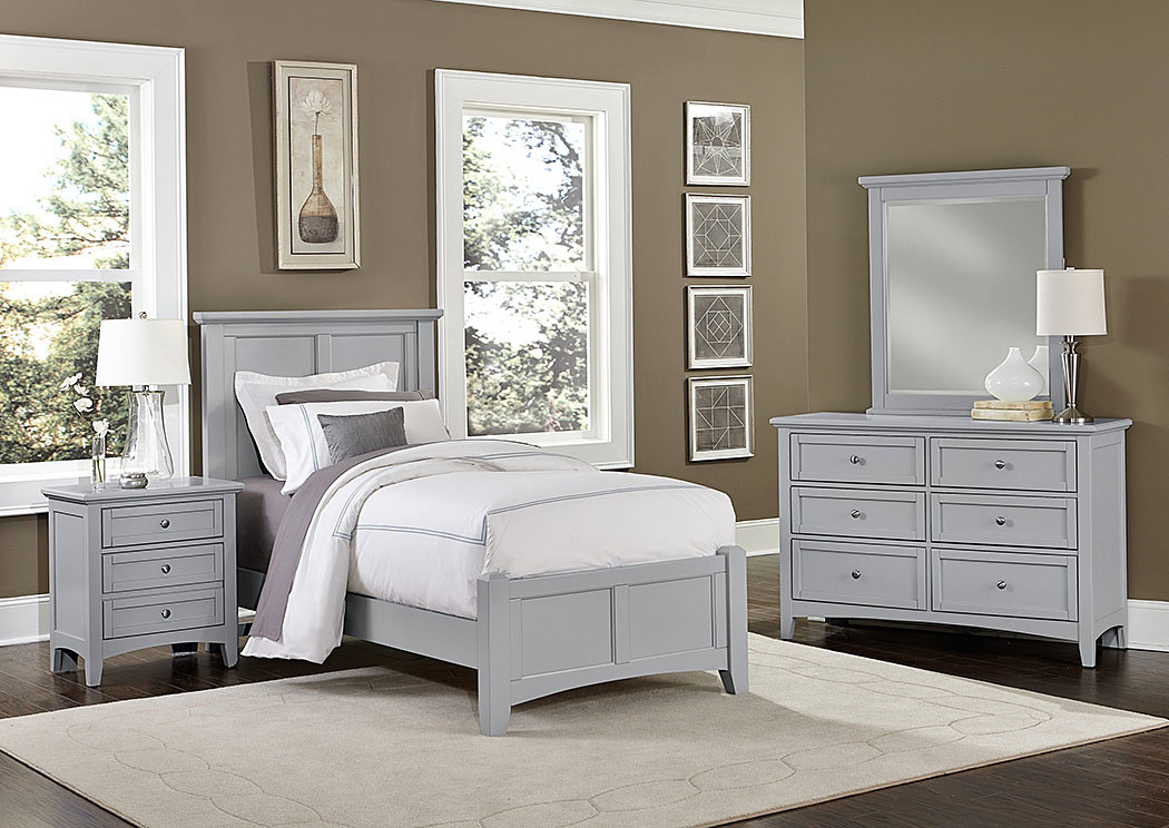 Bonanza Gray 2 Drawer Nightstand,Vaughan-Bassett