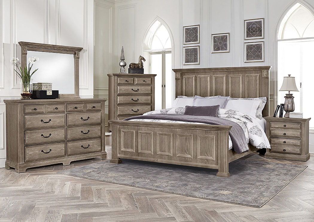 Actionwood Home Furniture Salt Lake City Ut Woodlands Driftwood King Panel Bed