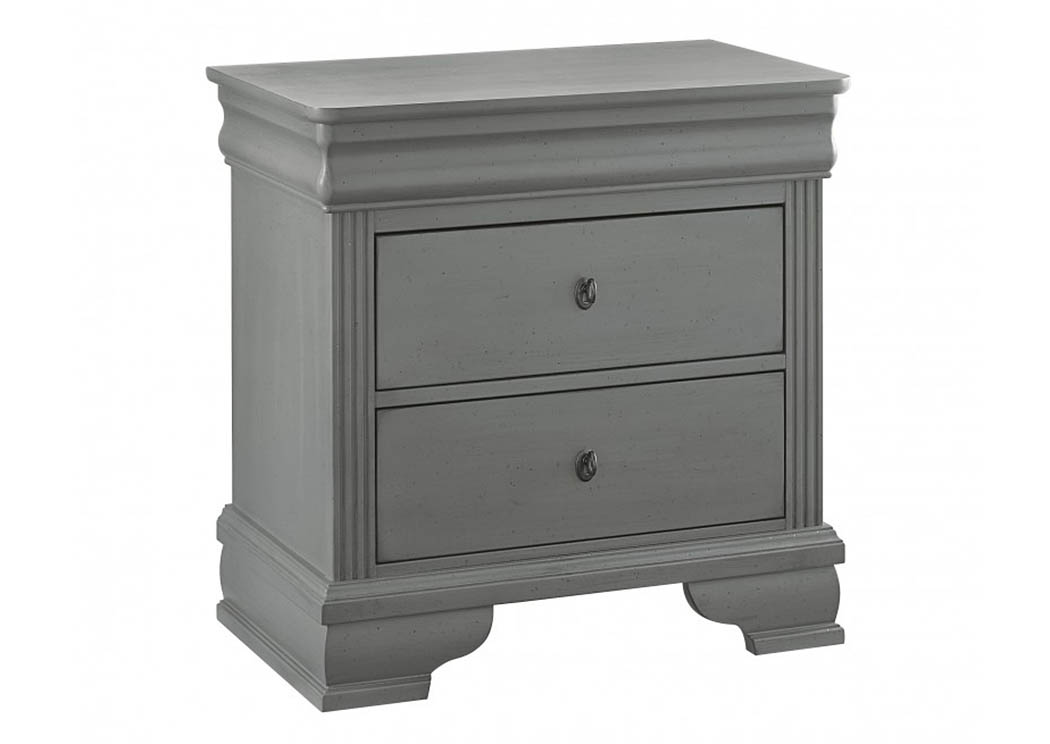 French Market Zinc 2 Drawer Nightstand,Vaughan-Bassett