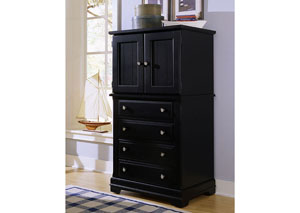 The Cottage Collection Black Vanity Chest,Vaughan-Bassett