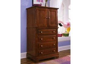 The Cottage Collection Cherry Vanity Chest,Vaughan-Bassett