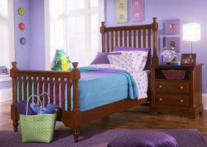 The Cottage Collection Cherry Twin Poster Bed