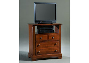 The Cottage Collection Cherry 2 Drawer Media Cabinet