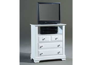 The Cottage Collection Snow White 2 Drawer Media Cabinet