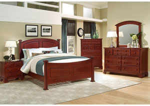 Hamilton/Franklin Cherry King Panel Bed