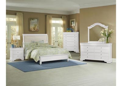 French Market Soft White Youth 6 Drawer Dresser