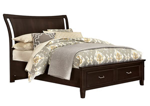 Commentary Merlot Wing Queen Storage Bed