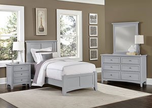 Bonanza Gray 2 Drawer Nightstand