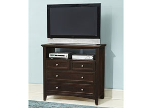 Bonanza Merlot 4 Drawer Media Unit