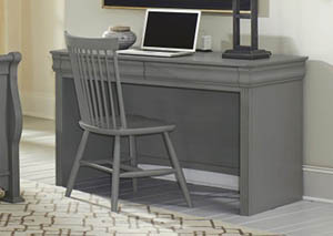 French Market Zinc 2 Drawer Laptop/Tablet Desk w/ Charging Station