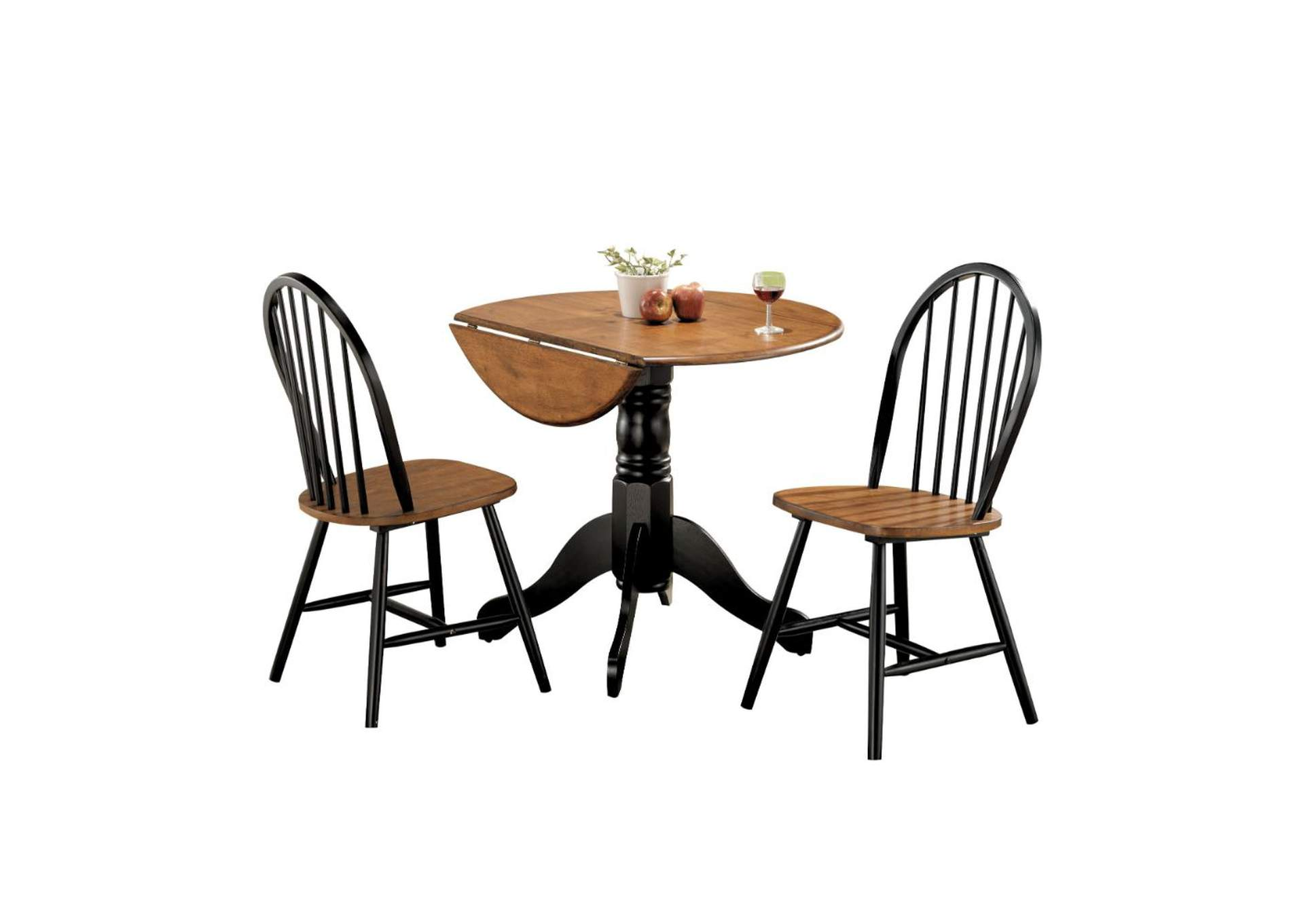 Mason Cherry and Black 3 Piece Dining Set,Acme