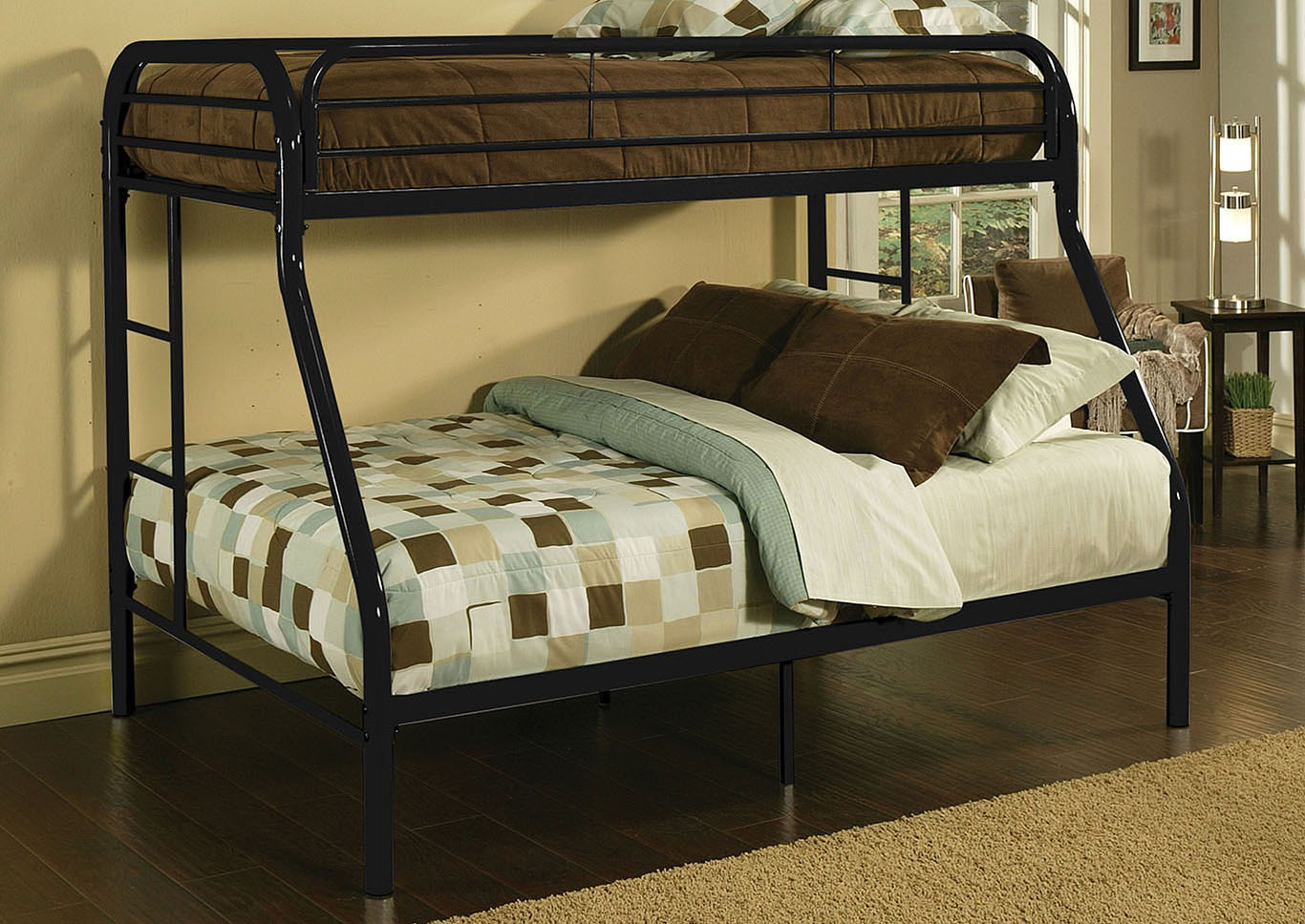 Tritan Black Twin XL/Queen Metal Bunk Bed,Acme