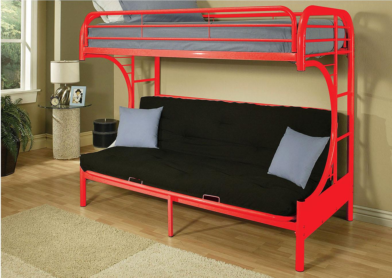 new arrival a98f1 27d62 Goree's Furniture - Opelika, AL Eclipse Red Twin/Full/Futon ...