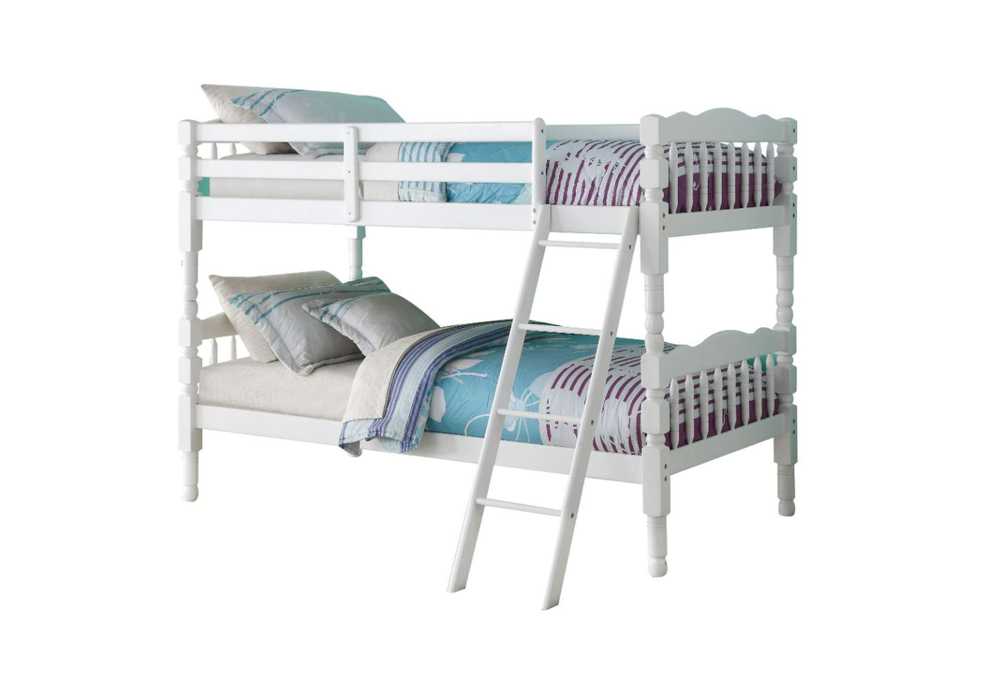 Homestead White Twin Bunk Bed,Acme