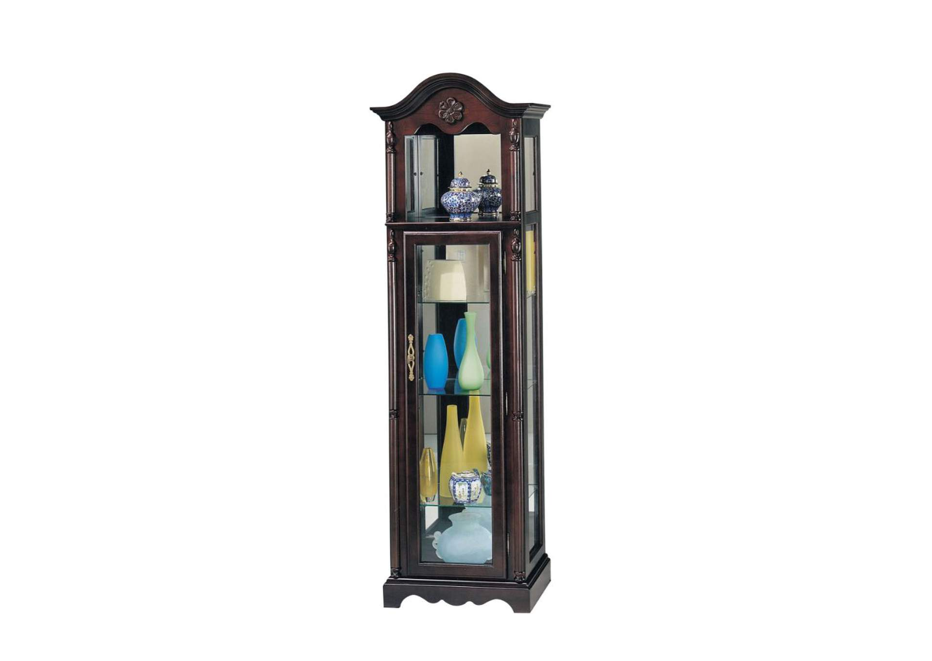 Lindsey Cherry Curio Cabinet,Acme
