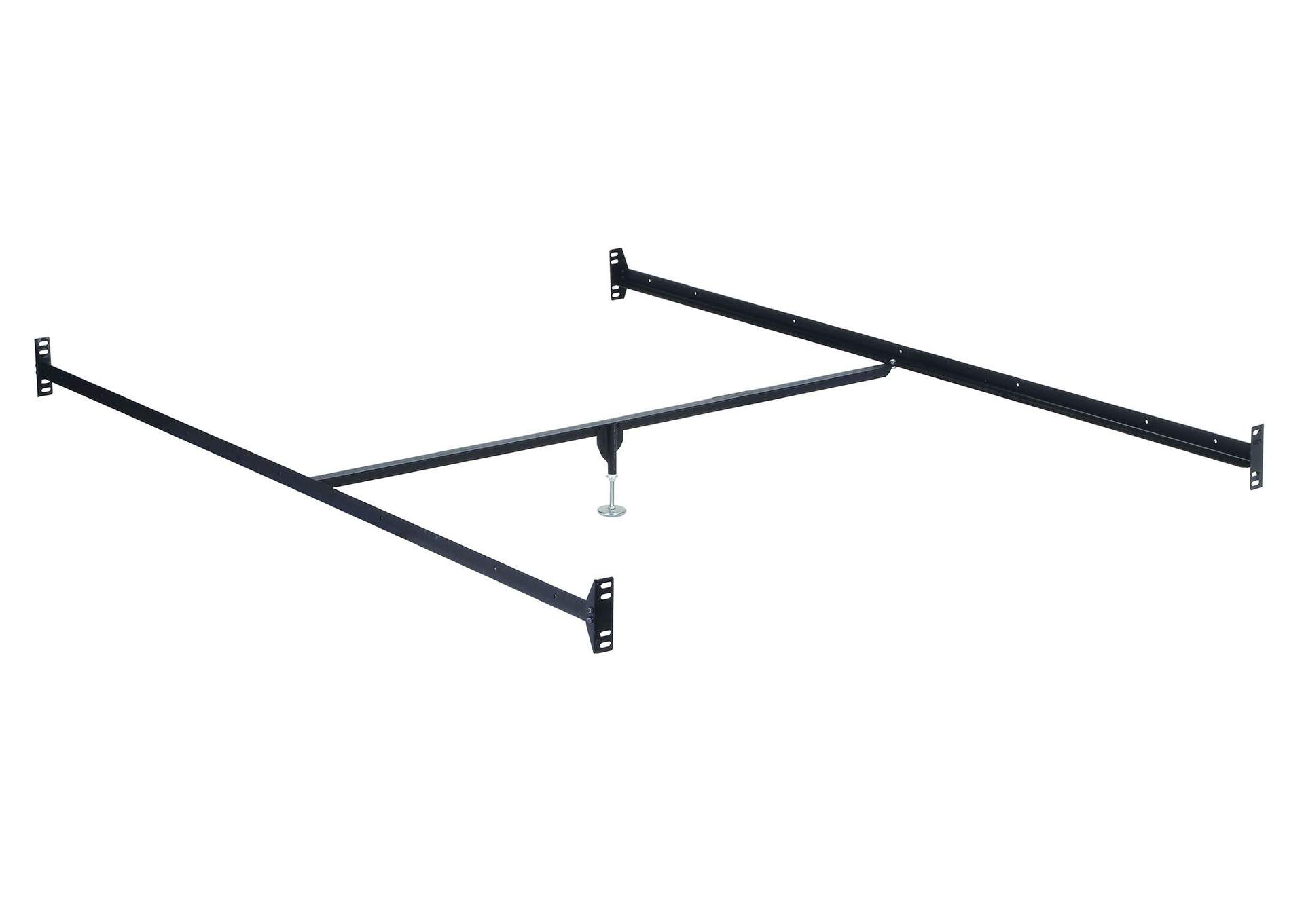 Frame Metal Queen Rail w/Center Sup & Leg,Acme
