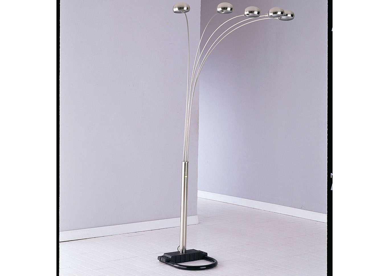 Lamp Nickel Floor Lamp,Acme