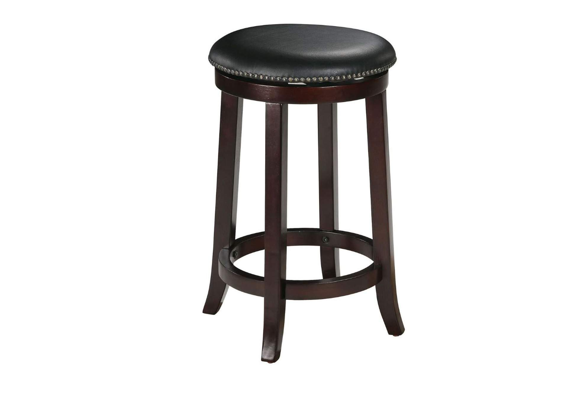 Chelsea PU &Espresso Counter Height Swivel Stool (Set of 2),Acme