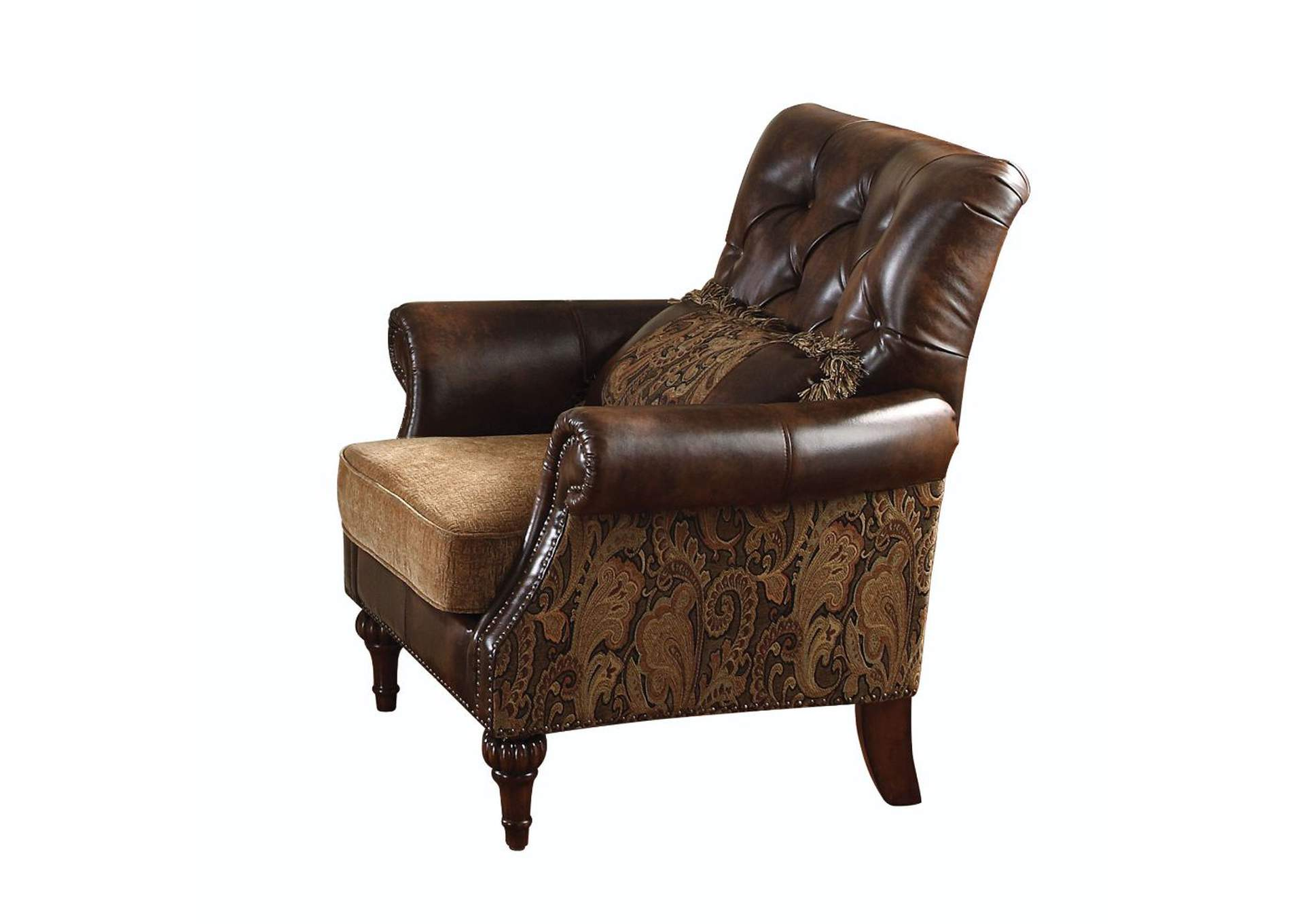 Dreena Two-Tone Brown Chair w/1 Pillow,Acme