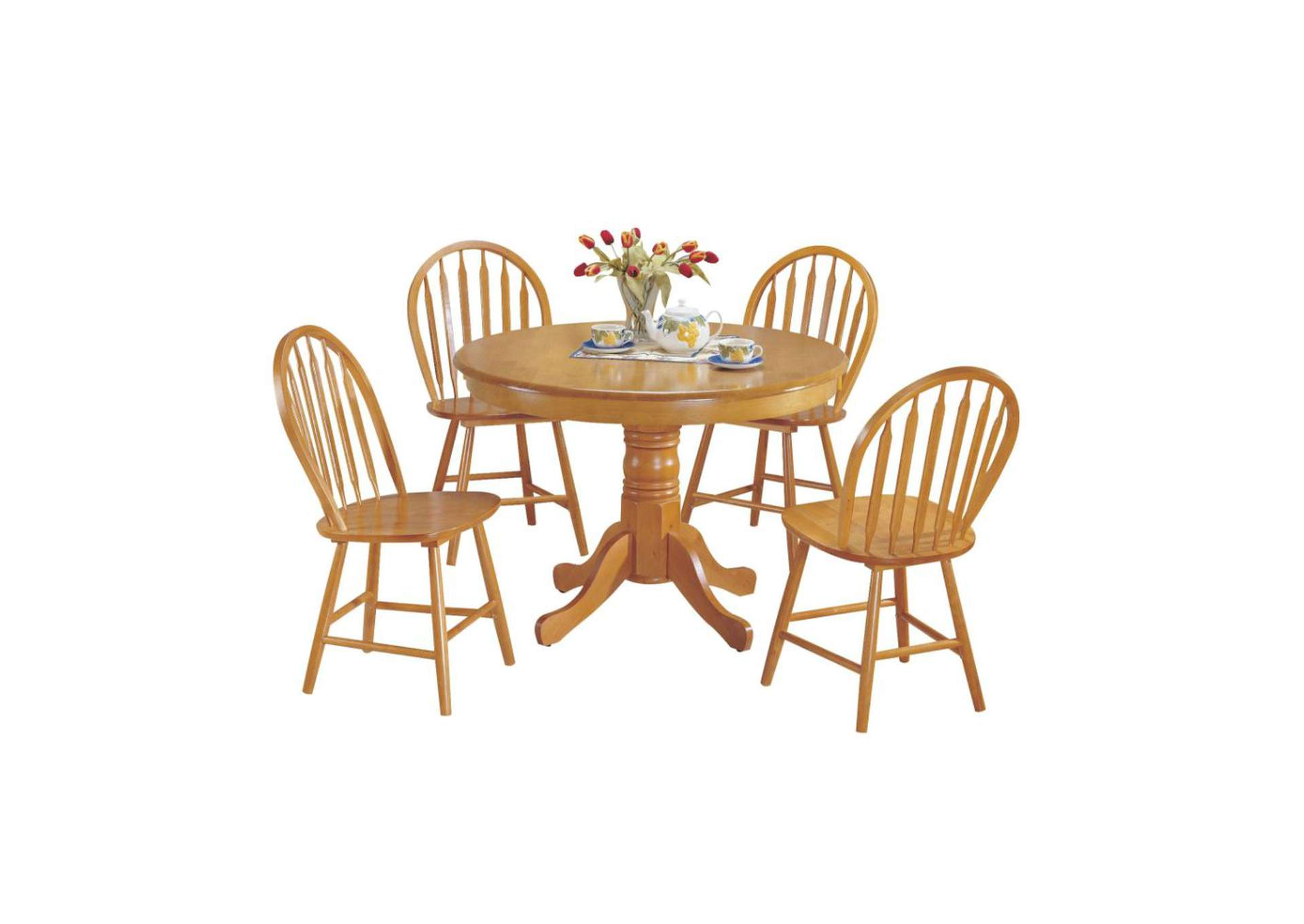 Farmhouse Oak 5 Piece Dining Set,Acme