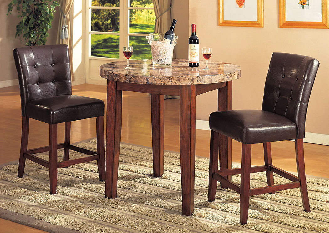 Bologna Espresso PU & Brown Cherry Counter Height Chair (Set of 2),Acme