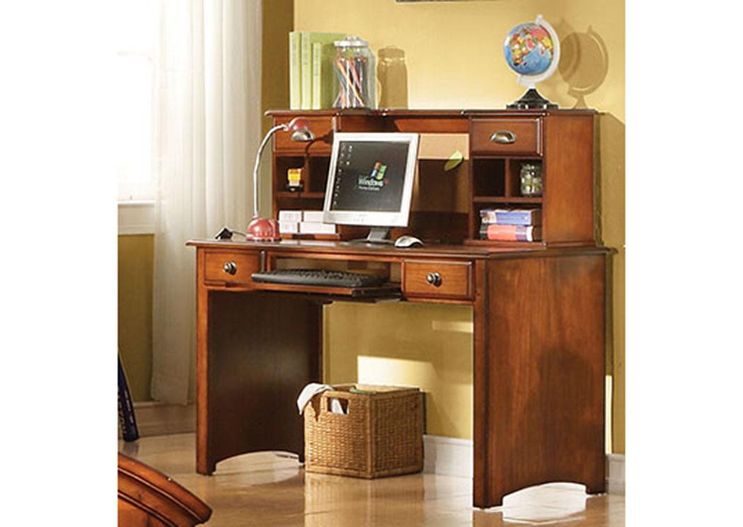 Brandon Antique Oak Computer Desk,Acme