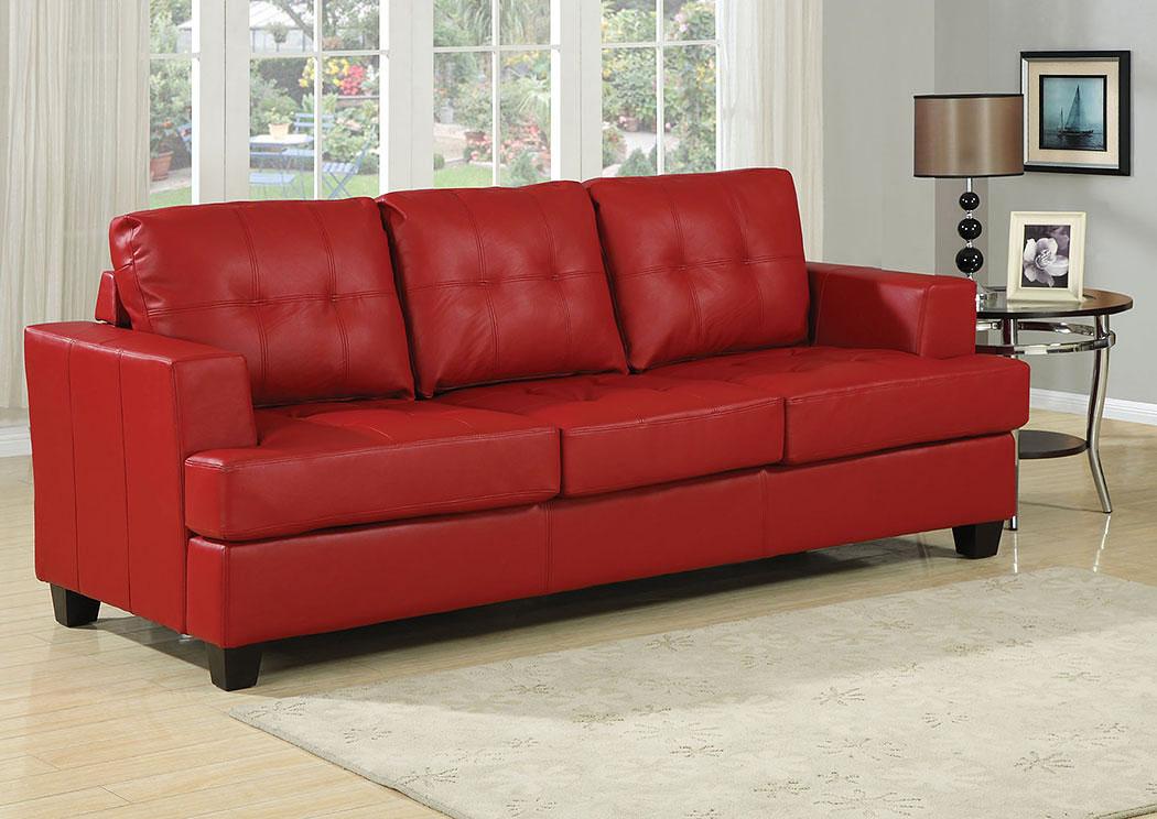 iDeal Furniture of Metro Atlanta Platinum Red Bonded Leather ...