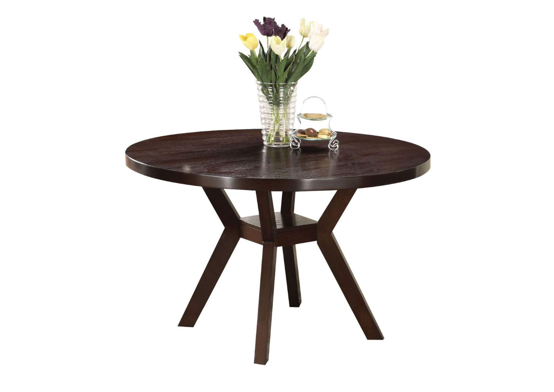 Drake Espresso Round Dining Table,Acme
