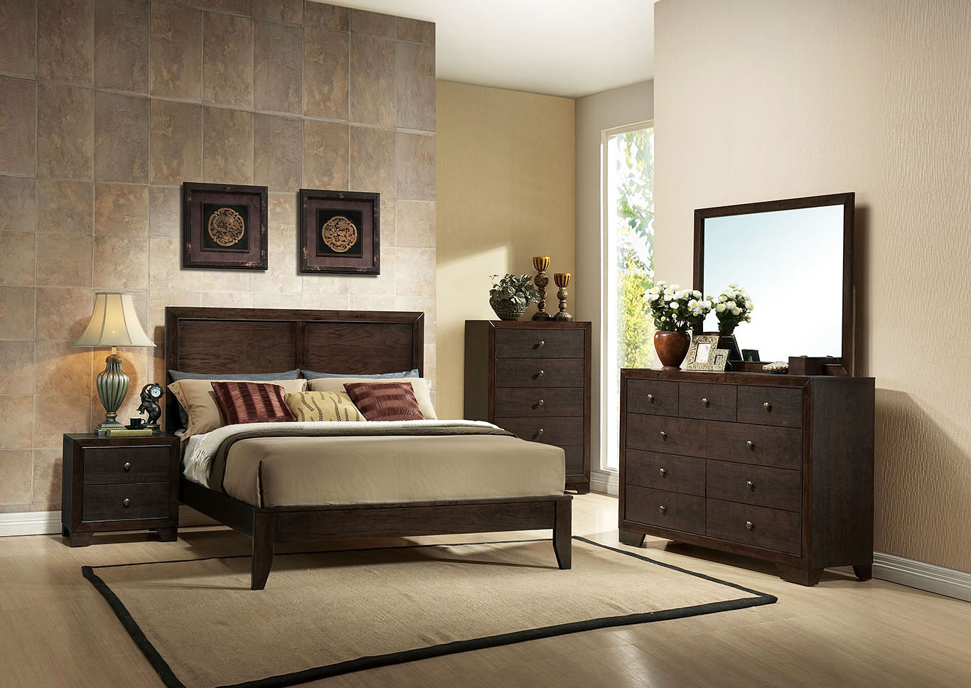Madison Espresso Eastern King Bed Wine Country Furniture