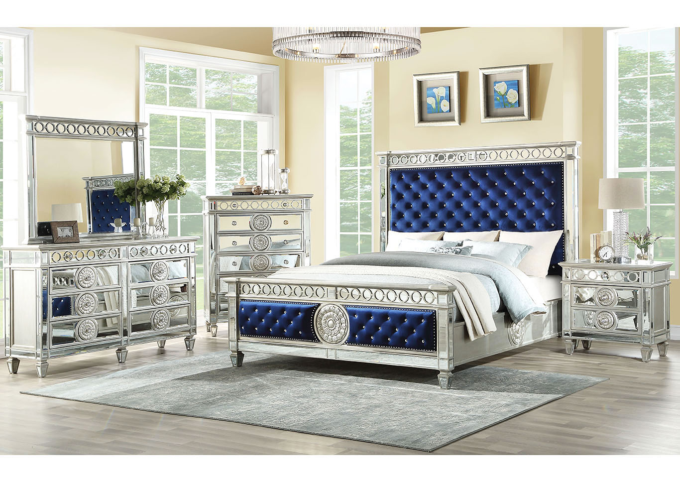 Gorees Furniture Opelika Al Varian Silverroyal Blue