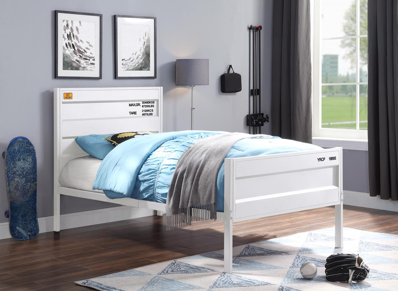 Cargo White Twin Bed,Acme