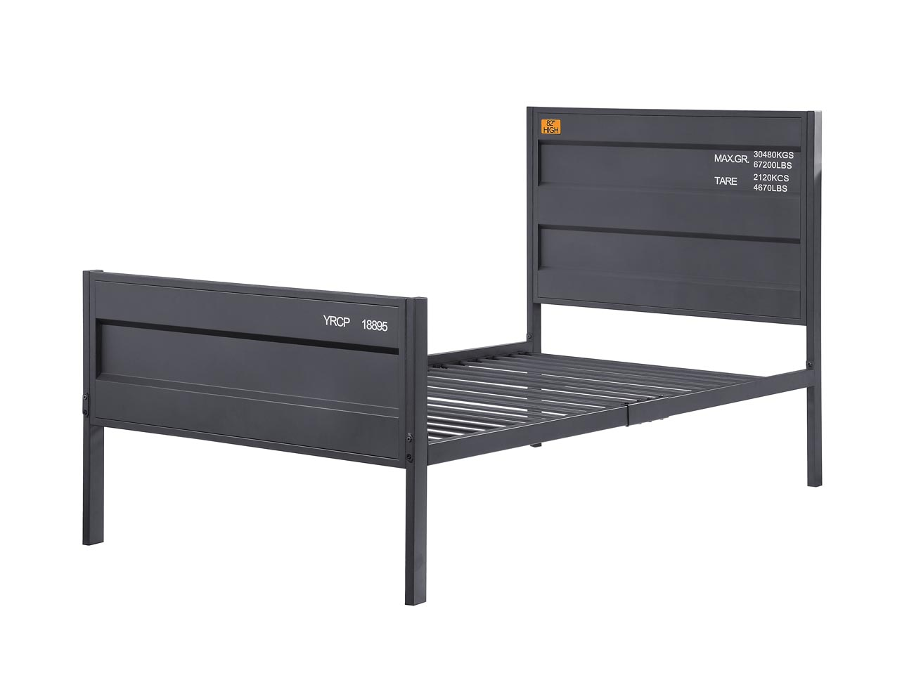 Cargo Gunmetal Full Bed,Acme