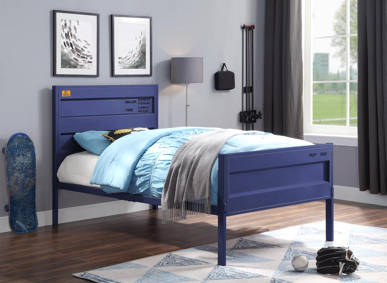 Cargo Blue Twin Bed,Acme